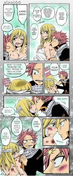 Fairy Tail, Natsu and Lucy.My third favorite paring (first is Levy and Gajeel. and second is Gray and Juvia