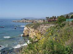 California coast around San Luis Obispo