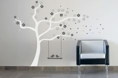 Blossoms in the wind by Stickaroo Wall Candy, Blossoms, Wall Stickers, Decals, Vinyl Decor, Kids Rooms, Kindergarten, Japanese, Design
