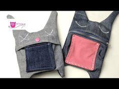 DIY Eule: Hasentäschchen aus alten Jeans nähen - YouTube