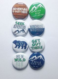 Adventure is Out There Flair by aflairforbuttons on Etsy