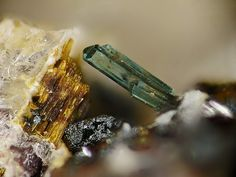Fluorapatite. Ettringer Bellerberg, Ettringen, Eifel FOV=3 mm Copyright Stephan Wolfsried