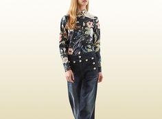 Gucci - flora knight print cotton poplin shirt 367323ZEP041860
