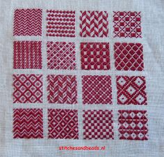 stitches and beads: randje 7 + 8 en een stoplapje Embroidery Sampler, Cross Stitch Embroidery, Hand Embroidery, Cross Stitch Patterns, Plastic Canvas Crafts, Plastic Canvas Patterns, Embroidery Techniques, Sewing Techniques, Needle Cushion