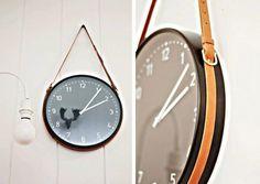 Reloj con correa de cuero de IKEA Percha