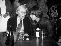 Andy Warhol & Mick Jagger