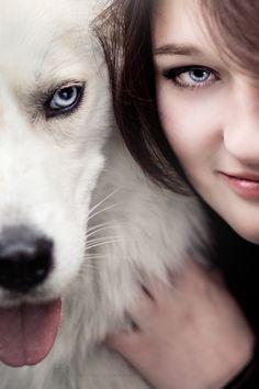 #wilk #z wilkiem #withwolf #with wolf #wolf #wolfs #face #wolfy #girlwolf #wolfandgirl #girlwolf #gameofthrones #blueyes #eyewolf #portrait #wolfportrait #white wolf #whitewolf