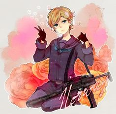 hetalia norway   Hetalia Norway Photo by kiki-chann   I just love how there's a random gun in the picture. :)