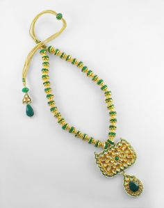 Necklaces with a gold touch!  Price - 12500/-  Place your order by sending us an email to justjewellery08@gmail.com