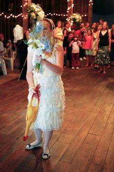 rubber chicken bouquet toss