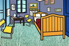 Bedroom at Arles - Roy Lichtenstein, 1992