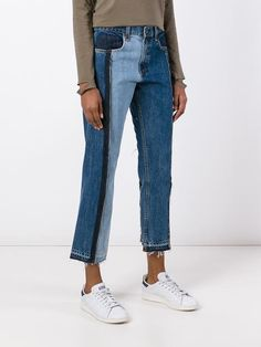 Rag & Bone /Jean Calça jeans cropped com recortes