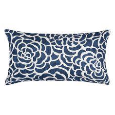 The Navy Peony Throw Pillow | Crane & Canopy