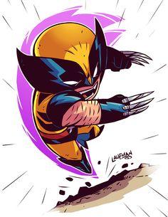 Chibi Wolverine by DerekLaufman.deviantart.com on @DeviantArt #xmen #wolverine