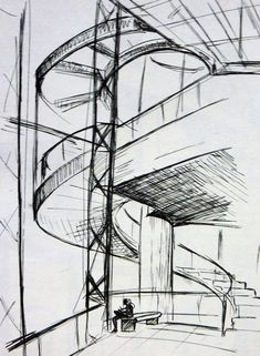 architecture sketch 2 by eleoATM.deviantart.com