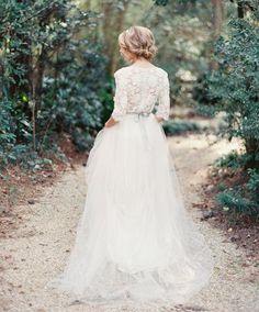 Beautiful wedding dress - Vintage - Lace