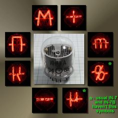 IN-17A nixie tubes (electrified neon gas)