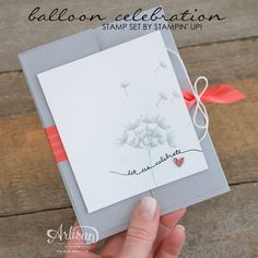 Stampin' Dolce: Fun Fold Card and Balloon Celebration Stamp Set from Stampin' Up! - GDP022