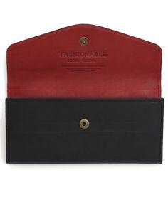 Heta Wallet - in red + black | FASHIONABLE
