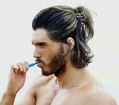 Hair colors inspiration for you using special man bun hairstyles. Greasy hair tips as of man bun hairstyles. Man bun hairstyles new. Mens Ponytail Hairstyles, Man Ponytail, Boy Hairstyles, Long Hairstyles For Men, Stylish Hairstyles, Hairstyle Ideas, Men Hair Bun, Formal Hairstyles, Mens Medium Length Hairstyles