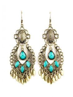 Latest Cool Beads with Alloy Tassel Chain Earrings