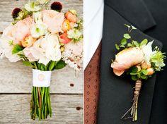 Peach/melon + mint florals  //Event Designer|Flowers: Adornments  | Flowers & Finery