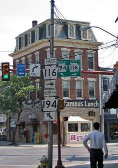 Highway signs, Hanover, Pennsylvania by Paul McClure DC, via Flickr