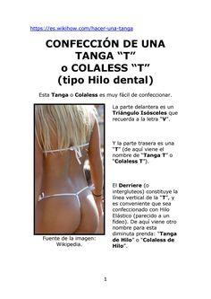 Tanga Basica - Teoria by Moldes / Patrones Bikinis y Tangas / Colaless - Thongs Patterns - issuu Bikini Moldes, Underwear Pattern, Sexy Wife, Bikinis, Swimwear, Clothing Patterns, Diy Fashion, Boxer, Lingerie