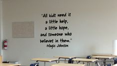 wall Decals Classroom - A Little Hope Wall Decal. School Jobs, School Plan, School Ideas, School Projects, Back To School Quotes, Class Decoration, Student Motivation, Online Programs, School Counseling