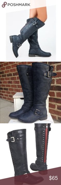 Steve Madden Girl Black Cactuss Tall Boots Size 6 Like New - Wore 1x briefly for photos - If you have any questions or concerns please let me know. Thank you for looking at my listing. Have a great day! Madden Girl Shoes Winter & Rain Boots