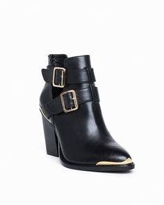 Boots this shape, shorter heel and no gold on the toe or buckles for fall/winter