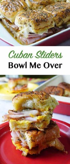 What to make for a tailgating party? Cuban Sliders are sweet, buttery, salty, tangy, spicy, cheesy & amazing! They are perfect for game day!