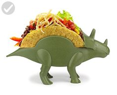 KidsFunwares TriceraTACO Taco Holder - The Ultimate Prehistoric Taco Stand for Jurassic Taco Tuesdays and Dinosaur Parties - Holds 2 Tacos - The Perfect Gift for Kids and Kidults that Love Dinosaurs - Fun stuff and gift ideas (*Amazon Partner-Link)