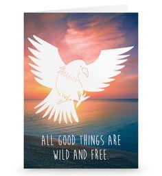 Grußkarte Adler aus Karton 300 Gramm  weiß - Das Original von Mr. & Mrs. Panda.  Die wunderschöne Grußkarte von Mr. & Mrs. Panda im Format Din Hochkant ist auf einem sehr hochwertigem Karton gedruckt. Der leichte Glanz der Klappkarte macht das Produkt sehr edel. Die Innenseite lässt sich mit deiner eigenen Botschaft beschriften.    Über unser Motiv Adler  Das amerikanische Wappentier bekommt man auch in Deutschland oft zu Gesicht. Der Adler steht für Freiheit und Stärke.    Verwendete…