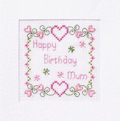 Mum Birthday Card Cross Stitch Kit ƸӜƷ Many Designs ƸӜƷ £4.99
