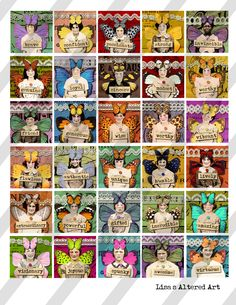 Artist Trading Cards, Crafty Craft, Vintage Ephemera, Collage Sheet, Digital Collage, Altered Art, Greeting Cards, Fairy, Paper Crafts