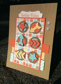 Stampin' Up! Retro Fresh Designer paper; The Crafty Crafter