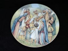 "1989 W.S. George Beloved Hymns of Childhood ""Love Divine"" Collector Plate by Cicely Mary Barker by ThePlateHutchII on Etsy"