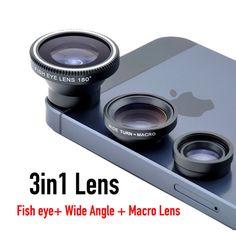 2017 Magnetic 3 in 1 lentes celular Fish eye Wide Angle Macro Fisheye Lens For HTC M8 M9 ONE U10 U Ultra U11 Mobile Phone Lenses #Affiliate