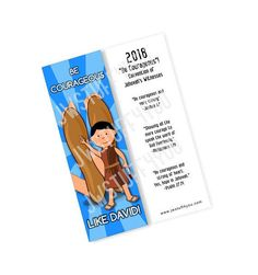 2018 Be Courageous Convention Bookmark David   JW Convention Gifts   Be Courageous Regional Convention   JW Gifts    Sea Valiente Bookmark
