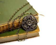 """Antique Brass Necklace """"Lost in History"""" by ChatterBlossom #vintage #antique #jewelry"""