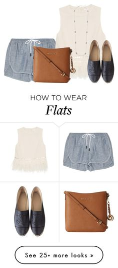 """wanting Chanel "" by conleighh on Polyvore featuring rag & bone, MICHAEL Michael Kors, Kendra Scott and Chanel"