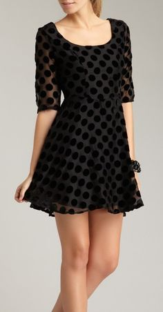 polka dot dress / mink pink