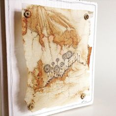 Teabagart, Drawing and Stitching: TeaDreams