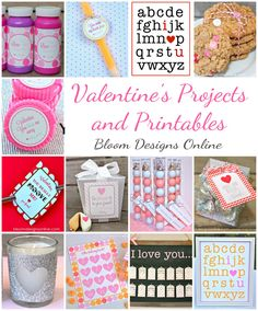 All FREE adorable downloads for all kinds of simple Valentine ideas.