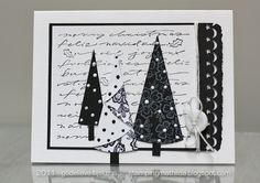Beautiful christmas card in black & white