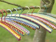 crochet covers for hangers :)