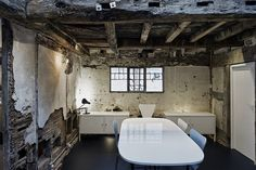 """archatlas: """" Croft Lodge Studio in Herefordshire Architect Kate Darby and designer David Connor describe how they preserved a cottage in Leominster, Herefordshire, and turned it into a. Small Cottage Homes, Small Cottages, Old Cottage, French Country Cottage, Small Homes, Cottage House Designs, Derelict Buildings, Old Fireplace, Construction"""