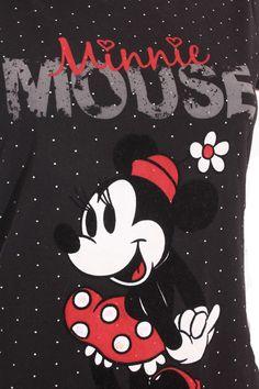 Camiseta Mujer - Disney at C&A en Negro con Minnie Mouse de Segunda Mano vista 4