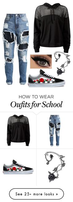 """""""school """" by nye969 on Polyvore featuring Sans Souci and Vans"""
